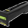 Lexmark Yellow Extra High Yield Return Program Toner 72K1XY0