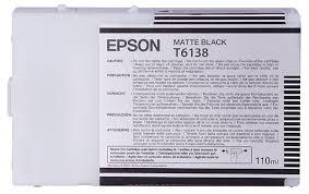 OEM Epson T613800 Matte Black UltraChrome Ink Cartridge