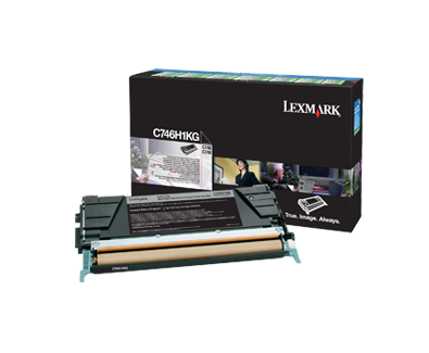 Lexmark C746 C748 Black High Yield Return Program Toner C746H1KG