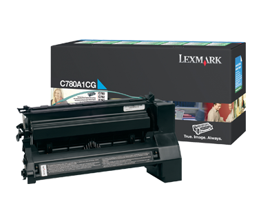 Lexmark C780 Cyan Return Program Toner C780A1CG