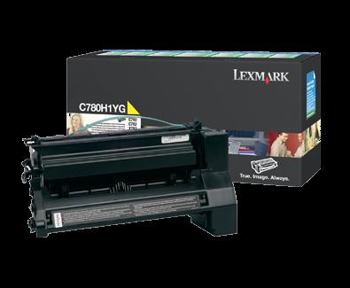 Lexmark C780 Yellow High Yield Return Program Toner C780H1YG
