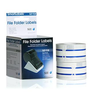 Seiko Blue File Folder Labels SLP-FLB